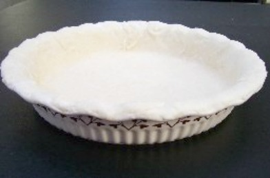 Old Fashioned Pie Crust made flaky with lard.