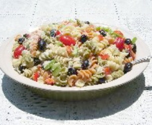 Italian Pasta Salad with it's own dressing.