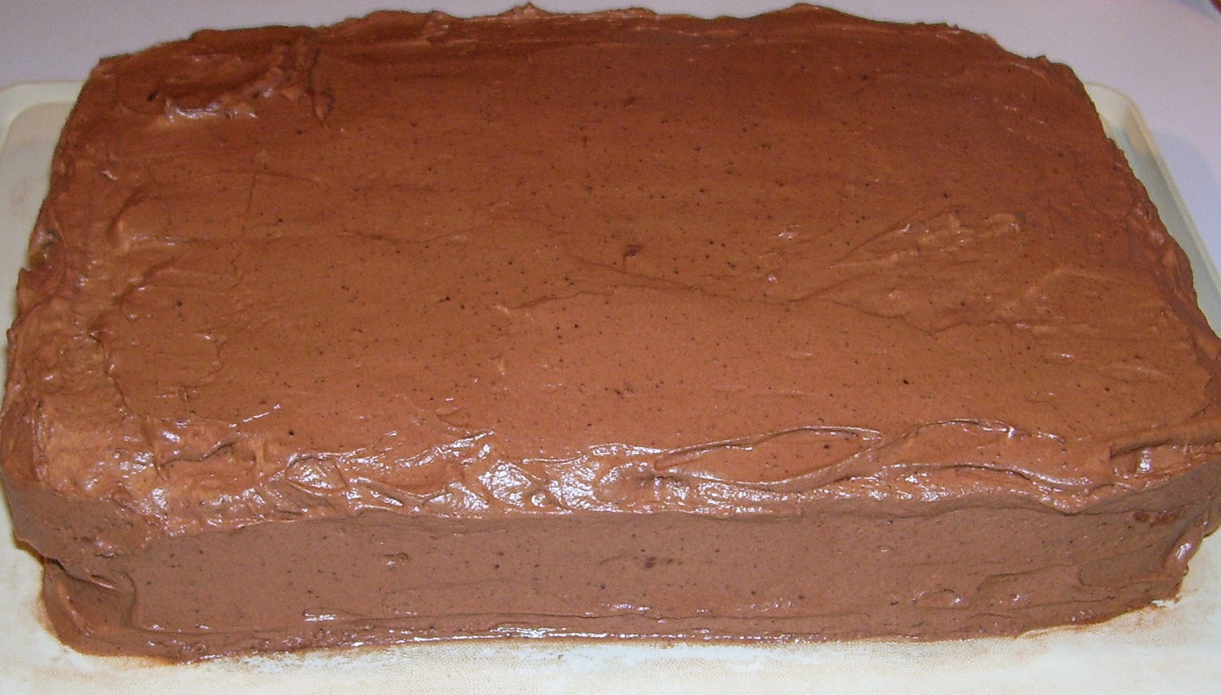 Chocolate Marble Cake with Fluffy Chocolate Or Creamy Buttercream Frosting.