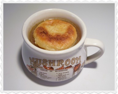 French Onion Soup with Sherry and Swiss Cheese