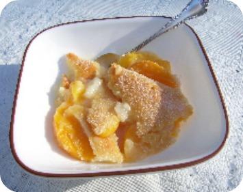 Peach Cobbler Recipe all season with canned peaches.
