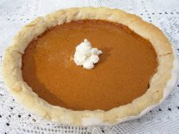 Pumpkin Pie with light spices and Homemade Whipped Cream
