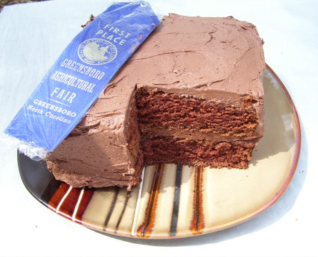 German Chocolate Cake original recipe with my Blue Ribbon winning Creamy Chocolate Frosting.