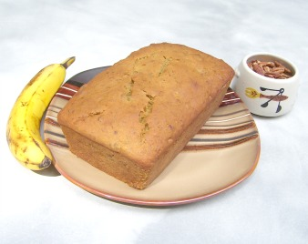 Homemade Banana Bread made from scratch.