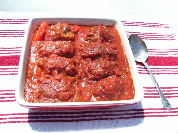 Stuffed Cabbage Rolls in savory sauce.