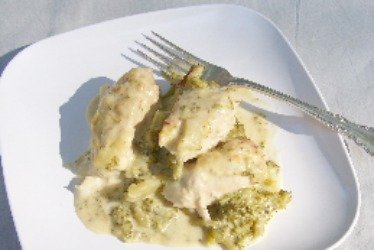 Chicken Divan in a Broccoli and Sherry Sauce.