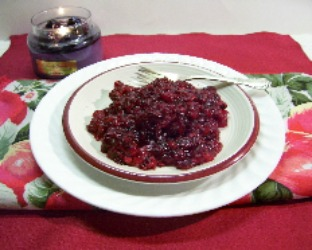 Cranberry Jello Salad with Pineapple and pecans.