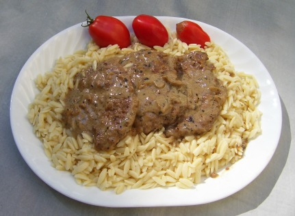 Cubed Steak Smothered In Mushroom Gravy