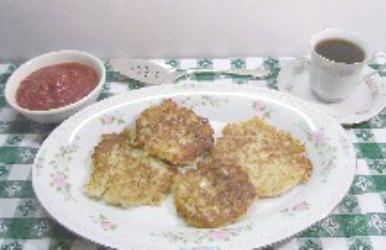 Potato Pancakes aka Latkes made without eggs tastes like hashbrowns.