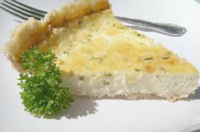 A slice of Cheesy Quiche Pie.
