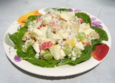 Waldorf Salad with coconut.